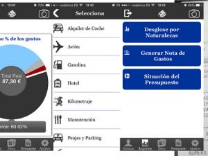 Uso de apps y notas de gastos para la gestión de la tesorería.